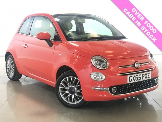 View our 2015 65 FIAT 500 1.2 C LOUNGE 3d 69 BHP