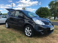 2009 NISSAN NOTE 1.5 N-TEC DCI nav,bluetooth fsh in black local car full mot & fresh service  £3495.00