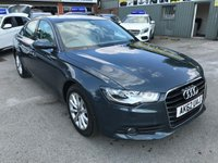 2012 AUDI A6 2.0 TDI SE 4d 175 BHP IN METALLIC GREY WITH ONLY 74000 MILES IN IMMACULATE CONDITION £9999.00