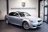 USED 2006 06 BMW M5 5.0 4DR 501 BHP Full Service History  SILVERSTONE METALLIC WITH FULL BLACK LEATHER INTERIOR + PRO SATELLITE NAVIGATION + FULL SERVICE HISTORY + PANORAMIC SUNROOF + XENON LIGHTS + HEATED SPORT SEATS + CRUISE CONTROL + LIGHT PACKAGE + PARKING SENSORS + 19 INCH ALLOY WHEELS