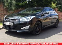 USED 2012 62 HYUNDAI I40 1.7 CRDI ACTIVE BLUE DRIVE 4d 114 BHP NEW CLUTCH, EXCELLENT SERVICE HISTORY, MOT JULY 19, EXCELLENT CONDITION, ALLOYS, AIR CON, BLUETOOTH, FOGS, RADIO CD, E/WINDOWS, R/LOCKING, FREE WARRANTY, FINANCE AVAILABLE, HPI CLEAR, PART EXCHANGE WELCOME,