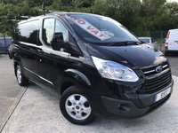 USED 2015 15 FORD TRANSIT CUSTOM 2.2 270 LIMITED LR P/V 5d 124 BHP *** NO VAT *** *** NO VAT *** PANTHER BLACK *** SECURITY LOCKS ***