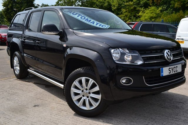 USED 2014 14 VOLKSWAGEN AMAROK 2.0 DC TDI HIGHLINE 4MOTION 5d AUTO DSG 180 BHP TECH PACK EKO CANOPY ~ SAT NAV ~ 1 OWNER ~ 2 KEYS