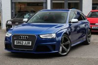 USED 2013 62 AUDI RS4 AVANT 4.2 FSI QUATTRO 5d AUTO 444 BHP S-TRONIC FULL AUDI SERVICE HISTORY ** SPORTS EXHAUST SYSTEM ** FINANCE AVAILABLE & PX WELCOMED **