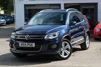 USED 2014 14 VOLKSWAGEN TIGUAN R-LINE 2.0 TDI 177PS BLUEMOTION TECH 7 SPEED DSG AUTOMATIC 4MOTION 4WD 4X4 LEATHER ** SAT-NAV ** DAB ** BLUETOOTH ** XENONS ** PARK ASSIST **