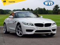"USED 2013 63 BMW Z4 2.0 Z4 SDRIVE18I M SPORT ROADSTER 2d 155 BHP A gorgeous 31000 mile BMW Z4 2.0 SDrive 118 M Sport in white with black leather, heated seats, bluetooth, park sensors front and rear, cruise control, bluetooth and a DAB radio. BRAND NEW 19"" ALLOY WHEELS AND NEW TYRES."