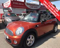 2011 MINI CONVERTIBLE 1.6 ONE *ONLY 52,000 MILES  F.S.H* £6495.00