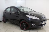 USED 2012 62 FORD FIESTA 1.2 ZETEC 5DR 81 BHP BLUETOOTH + MULTI FUNCTION WHEEL + AIR CONDITIONING + RADIO/CD + ELECTRIC WINDOWS + 15 INCH ALLOY WHEELS