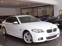 "USED 2013 13 BMW 5 SERIES 2.0 525D M SPORT 4d AUTO 215 BHP PRO NAV+R-CAM+LTHR+19"" ALLOYS"
