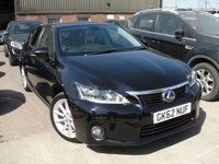 USED 2012 62 LEXUS CT 1.8 200H SE-L PREMIER 5d AUTO 136 BHP ANY PART EXCHANGE WELCOME, FREE COUNTRY WIDE DELIVERY ARRANGED