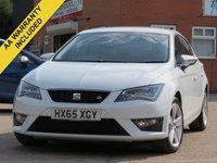 2015 SEAT LEON 2.0 TDI FR TECHNOLOGY DSG 5d AUTO 184 BHP £10500.00