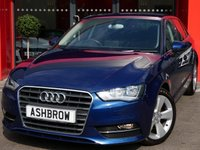 USED 2015 15 AUDI A3 SPORTBACK 1.6 TDI SPORT 5d 110 S/S UPGRADE SAT NAV, UPGRADE COMFORT PACK INCLUDING AUTO DIMMING REAR VIEW MIRROR RAIN & LIGHT SENSORS & WINDSCREEN SUN BAND, UPGRADE CRUISE CONTROL, UPGRADE PARKING SYSTEM REAR, UPGRADE ELECTRIC FOLDING HEATED DOOR MIRRORS, DAB RADIO, BLUETOOTH PHONE & MUSIC STREAMING, AUDI MUSIC INTERFACE FOR IPOD / USB DEVICES (AMI), GREY CLOTH INTERIOR, SPORT SEATS, LEATHER MULTI FUNCTION STEERING WHEE, DUAL CLIMATE AIR CON, AUDI DRIVE SELECT, 1 OWNER FROM NEW, FULL AUDI SERVICE HISTORY, £0 ROAD TAX
