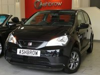 USED 2015 15 SEAT MII 1.0 I-TECH 5d 60 BHP SEAT PORTABLE SAT NAV WITH BLUETOOTH PHONE & MUSIC STREAMING, MANUAL 5 SPEED GEARBOX, COLOUR CODED EXTERIOR, 8 SPOKE BLACK ALLOY WHEELS, BLACK CLOTH INTERIOR, LEATHER STEERING WHEEL, ELECTRIC WINDOWS, AIR CONDITIONING, CD HIFI, AUX INPUT, REMOTE CENTRAL LOCKING, ISO FIX, FOLDING REAR SEATS, TYRE PRESSURE MONITORING SYSTEM, HEIGHT ADJUSTABLE DRIVERS SEAT.  1 OWNER FROM NEW, FULL SERVICE HISTORY, £20 ROAD TAX (105 G/KM), VAT QUALIFYING, HPI CLEAR