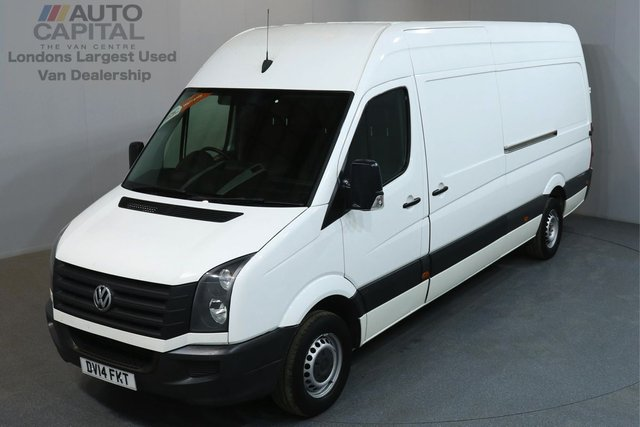 2014 14 VOLKSWAGEN CRAFTER 2.0 CR35 TDI 135 BHP L3 H3 LWB HIGH ROOF ONE OWNER FROM NEW, FULL SERVICE HISTORY