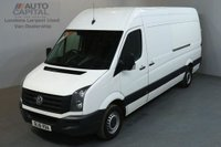 USED 2016 16 VOLKSWAGEN CRAFTER 2.0 CR35 TDI H/R 135 BHP L3 H3 LWB PANEL VAN FRONT AND REAR PARKING SENSORS