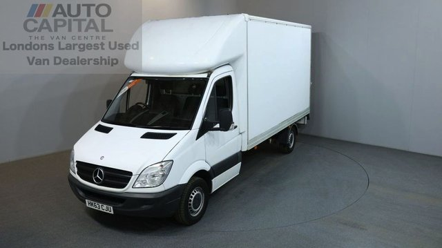 2013 63 MERCEDES-BENZ SPRINTER 2.1 313 CDI LWB 2d 129 BHP RWD DIESEL MANUAL LUTON WITH TAIL LIFT ONE OWNER/FULL SERVICE HISTORY