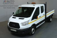 USED 2015 65 FORD TRANSIT 2.2 350 L3 D/CAB 124 BHP LWB TWIN WHEEL DROPSIDE LORRY ONE OWNER FULL S/H SPARE KEY