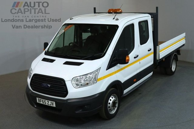 2015 65 FORD TRANSIT 2.2 350 L3 D/CAB 124 BHP LWB TWIN WHEEL DROPSIDE LORRY ONE OWNER FULL S/H SPARE KEY