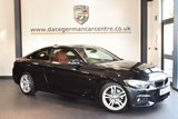 USED 2014 14 BMW 4 SERIES 2.0 420D M SPORT 2DR AUTO 181 BHP + FULL BLACK/RED LEATHER INTERIOR + FULL SERVICE HISTORY +  SATELLITE NAVIGATION + BLUETOOTH + HEATED SPORT SEATS + CRUISE CONTROL + DAB RADIO + XENON LIGHTS + DAB RADIO + 17 INCH ALLOY WHEELS +