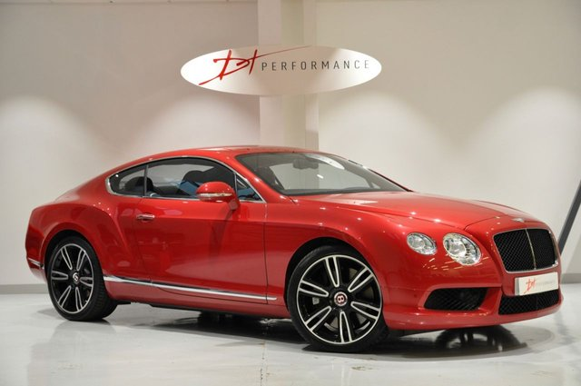 2012 62 BENTLEY CONTINENTAL 4.0 GT V8 MULLINER 2d AUTO 500 BHP RARE DRAGON RED PEARL PAINT