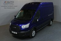 USED 2017 17 FORD TRANSIT 2.0 350 168 BHP L3 H3 LWB HIGH ROOF A/C E6 MANUFACTURE WARRANTY UNTIL 25/06/2020, EURO 6 ENGINE, TREND SPECIFICATION AVAILABLE