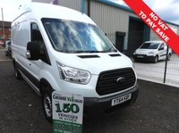 2014 FORD TRANSIT 2.2 350 L3 LWB NO VAT TO PAY FSH £10495.00