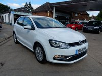USED 2014 64 VOLKSWAGEN POLO 1.2 SE TSI 5d 89 BHP SAT NAV,SERVICE HISTORY,USB AND AUX PORT,BLUETOOTH,PARKING AID