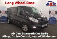 USED 2015 15 FORD TRANSIT CUSTOM 2.2 290 LIMITED 125 BHP  Long Wheel Base, Air Con, Cruise Control, Bluetooth Connectivity **Drive Away Today**  01709 866668