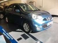 USED 2014 64 NISSAN MICRA 1.2 ACENTA 5d AUTO 79 BHP 1 OWNER FROM NEW, FULL MAIN DEALER SERVICE HISTORY