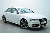 2013 AUDI A4 2.0 TDI S LINE BLACK EDITION START/STOP 4d AUTO 148 BHP £12795.00