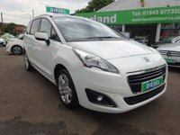 USED 2014 64 PEUGEOT 5008 1.6 HDI ACTIVE 5d 115 BHP FRONT & REAR PARKING SENSORS.....7 SEATER.....DIESEL.....£0 DEPOSIT FINANCE DEALS AVAILABLE