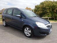2008 VAUXHALL ZAFIRA 1.6 EXCLUSIV , BLUE, 2 OWNERS, SERVICE HISTORY, 7 SEATER £2595.00