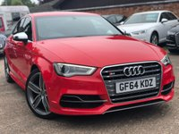 USED 2014 64 AUDI A3 2.0 S3 QUATTRO 4d 296 BHP Full Audi history, Over £5k options.