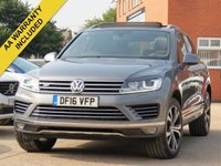 USED 2016 16 VOLKSWAGEN TOUAREG 3.0 V6 R-LINE TDI BLUEMOTION TECHNOLOGY 5d AUTO 259 BHP AUTOMATIC, PANORAMIC ROOF + NAVIGATION