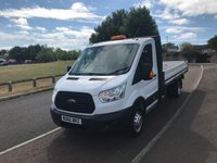 USED 2016 66 FORD TRANSIT 2.2 T350 L4 ALLOY DROPSIDE  DRW  125 BHP