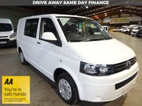 "USED 2014 14 VOLKSWAGEN TRANSPORTER 2.0 T30 SWB TDI KOMBI VAN STARTLINE 102 BHP-ONE OWNER-SERVICE HISTORY ""YOU'RE IN SAFE HANDS"" - AA DEALER PROMISE"