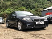 USED 2012 12 BMW 5 SERIES 2.0 520D M SPORT 4d AUTO 181 BHP PROFESSIONAL MEDIA EDITION +  SERVICE RECORD +   2 PREVIOUS KEEPERS +  NAVIGATION SYSTEM +  BLUETOOTH +