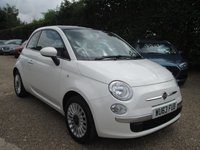 USED 2013 63 FIAT 500 1.2 LOUNGE 3d 69 BHP BUY NOW - PAY 2019  WITH MOTONOVO