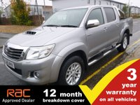 2015 TOYOTA HI-LUX Double Cab 3.0 INVINCIBLE 171ps with SAT NAV  £16500.00