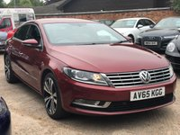 2015 VOLKSWAGEN CC 2.0 GT TDI BLUEMOTION TECHNOLOGY 4DR 150 BHP £8900.00