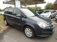 2007 VAUXHALL ZAFIRA 1.6 LIFE 16V 5d 105 BHP 8 SERVICE STAMPS £2695.00