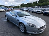 USED 2009 59 ASTON MARTIN DB9 5.9 V12 2d AUTO 470 BHP Silver, dark Blue leather, Bang & Olufsen Hi-Fi, 19 inch