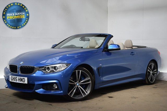 USED 2015 15 BMW 4 SERIES 2.0 420D M SPORT 2d 181 BHP CONVERTIBLE