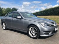 2013 MERCEDES-BENZ C CLASS 2.1 C220 CDI BLUEEFFICIENCY AMG SPORT 4d 168 BHP £10995.00