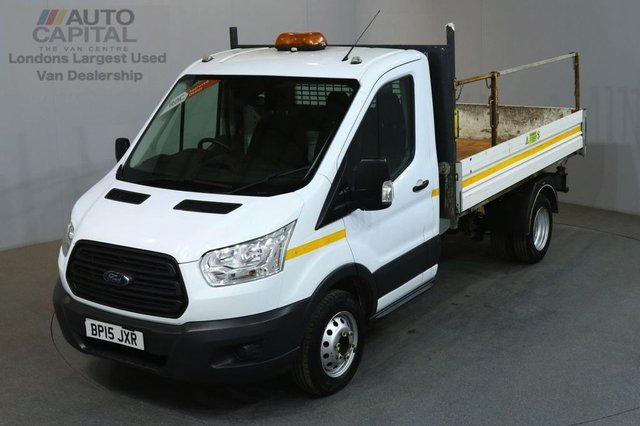 2015 15 FORD TRANSIT 2.2 350 C/C DRW 2d 124 BHP MWB L2H1 DRW RWD 1-WAY TIPPER ONE OWNER FULL SERVICE HISTORY