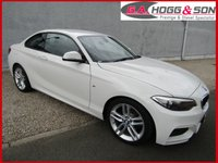 USED 2015 15 BMW 2 SERIES 2.0 220D M SPORT 2dr AUTO 188 BHP **STUNNING VEHICLE**