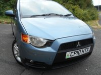 USED 2010 10 MITSUBISHI COLT 1.3 CZ2 5d 95 BHP ** 1 PREVIOUS OWNER , SUPERB CAR **