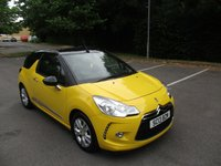 USED 2013 13 CITROEN DS3 1.6 DSTYLE 3d 120 BHP ABSOLUTELY STUNNING CITROEN DS3 CONVERTIBLE IN BRIGHT YELLOW !!