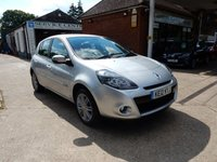 USED 2012 12 RENAULT CLIO 1.1 DYNAMIQUE TOMTOM 16V 5d 75 BHP SAT NAV,LOW MILES,TWO KEYS,PARKING AID,BLUETOOTH,CRUISE CONTROL
