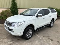 USED 2016 16 MITSUBISHI L200 2.4 DI-D 4X4 WARRIOR DCB 1d 178 BHP LEATHER, CANOPY, REVERSE CAMERA, 6 SPEED, HEATED SEATS